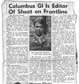 Columbus GI is Editor of Sheet on Frontline