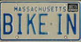 Bike In license plate